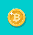 growth bitcoin on a bitcoin digital money vector image vector image