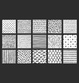 hand drawn seamless textures sketch pattern vector image