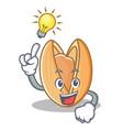 have an idea pistachio nut mascot cartoon vector image vector image
