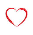 heart shape frame with brush painting isolated on vector image vector image