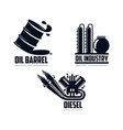 icon gasoline engine oil refinery barrel vector image vector image