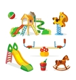 icon set of children playground vector image vector image