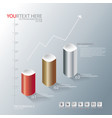 infographic graph vector image vector image
