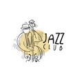jazz club logo vintage music label vector image vector image
