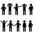 man icon in various poses vector image vector image