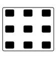 menu icon on white background symbol vector image vector image
