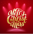 Merry Christmas gold lettering text vector image vector image
