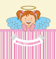 my first communion design vector image vector image