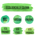 natural organic icon eco labels vector image