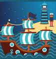 nautical maritime design vector image vector image