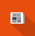 News icon flat design vector image vector image