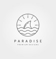 ocean wild logo symbol design vector image vector image