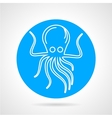 Octopus blue round icon vector image vector image