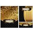 Ornate golden menu cover vector image vector image
