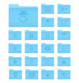 OS X Folders with Security Icons vector image vector image