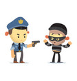 police and thief vector image