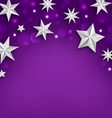 Purple Abstract Celebration Background with Silver vector image vector image