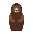 Russian Matryoshka bear People souvenir vector image