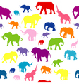 Seamless elephants silhouettes background vector image vector image