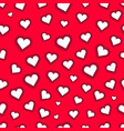 seamless of hearts for valentines day vector image vector image