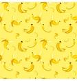seamless pattern bananas on yellow vector image