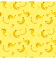 seamless pattern of bananas on yellow vector image