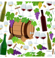 seamless pattern of wine icons vector image vector image