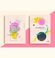 set artistic fashion universal posters design vector image