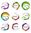 set of abstract hexagon logos geometric brand vector image