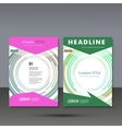 Set template for brochure poster application and vector image