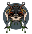 Skull demon hardcore vector image vector image