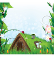 Small fairy house vector image