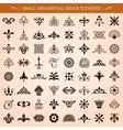 small ornamental design elements vector image vector image