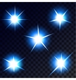 Stars lights and sparkles vector image