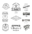 summer holiday party festival logos badges vector image vector image