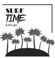 surf time theme poster vector image
