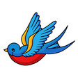 swallow bird icon freedom symbol in beautiful art vector image vector image