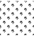 Three little leafs pattern simple style vector image