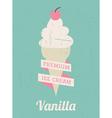 Vanilla Ice Cream Poster vector image vector image