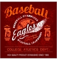 Vintage baseball logo emblem badge and design vector image