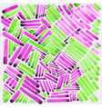 Watercolor stripes Pink and green colors Easy for vector image vector image