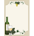 wine shield vector image vector image