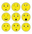 smile emoticon set vector image