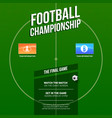 european football soccer ad template for game vector image