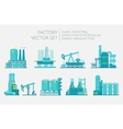 Extraction petroleum Set of factory vector image