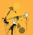 Grunge Arrows vector image