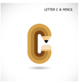Creative letter C icon abstract logo design vector image