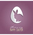 Happy Easter celebrations greeting card design vector image