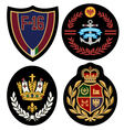 royal badge design set vector image