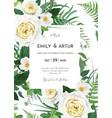 art watercolor style floral wedding invite vector image